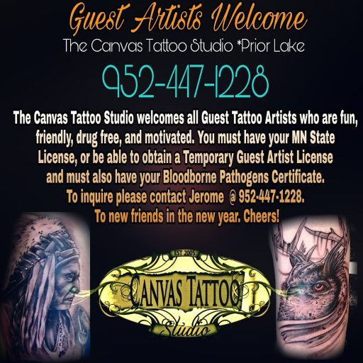 The Canvas Tattoo Studio Welcomes Guest Artists